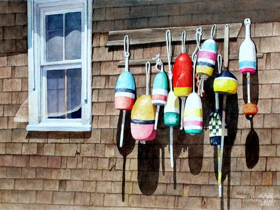 Buoys at bearskin neck iii