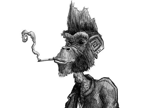 Smoking monkey 2