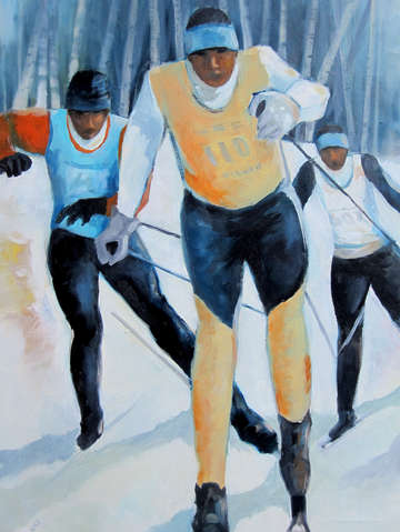 X country skiers