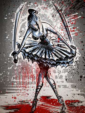 The blood splattered ballerina