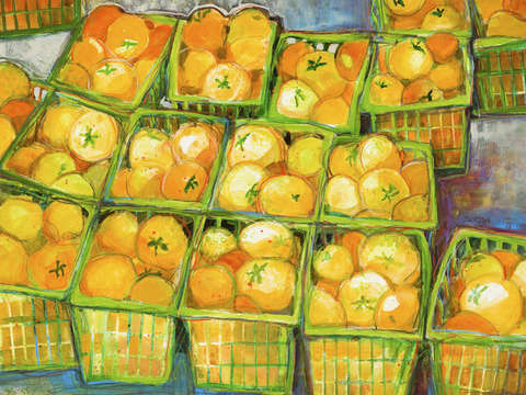 Yellow tomato baskets