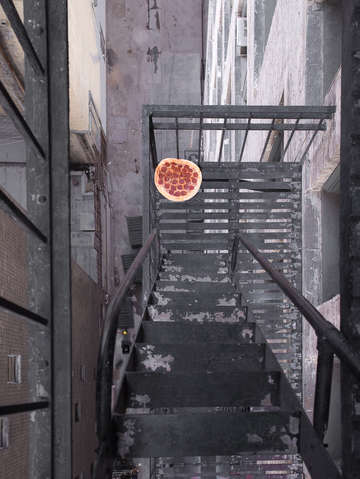 Fire escape pizza