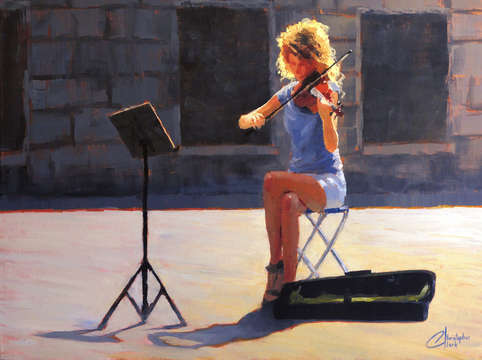 Violinist from venice