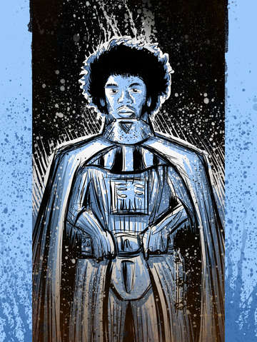 Darth hendrix in blue