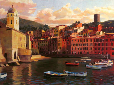 Vernazza harbor ii