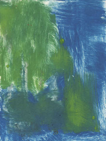 Weeping willow monoprint