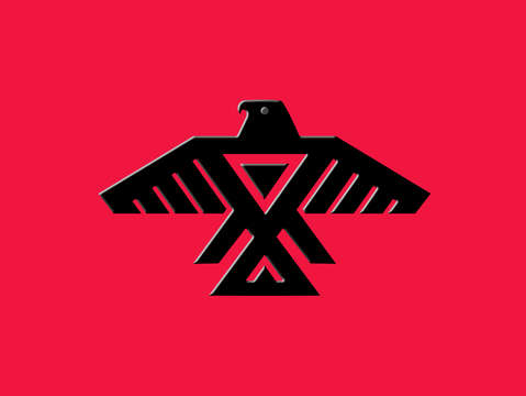 Thunderbird emblem of the anishinaabe people black