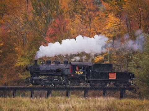 A Blaze of Color and Steam