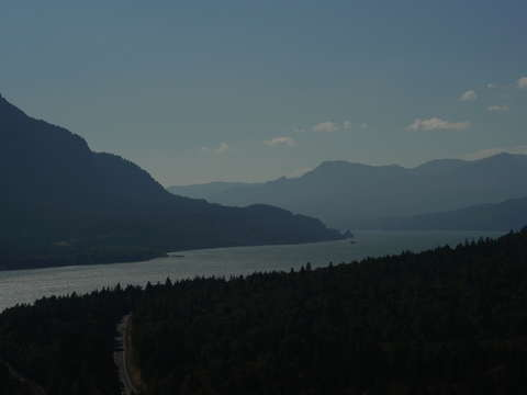 Columbia river from dog mountain