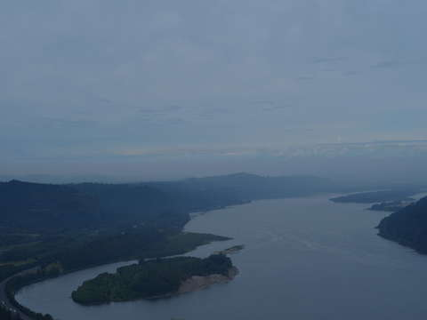 The columbia river from angels rest