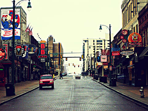 Beale street at day
