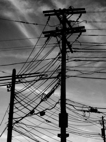 Backlit wires