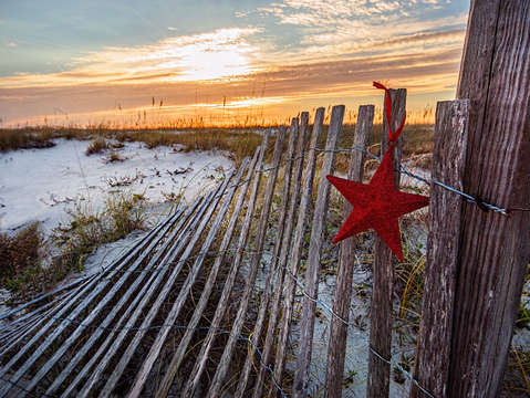 Star on fence
