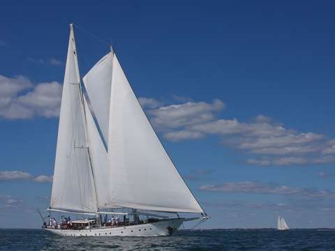 Schooner gloria races newport