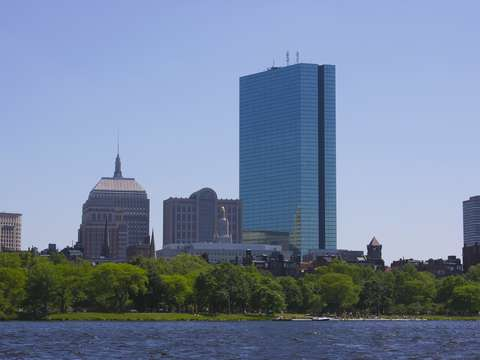 Boston skyline from the charles river 2