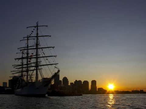 Tallship Sunset in Boston