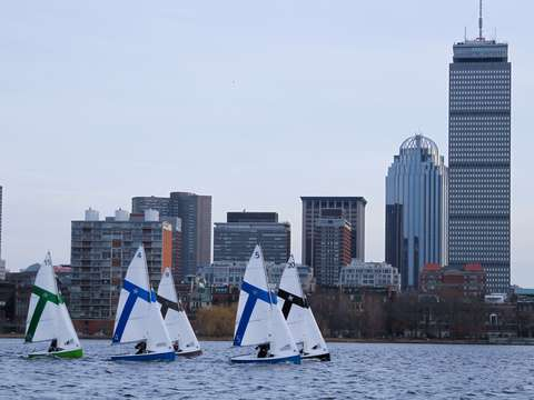 Sailing on the charles river in boston 2