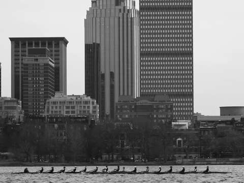 Rowing on the charles river in boston