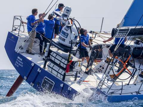 Team vestas winds leaves alicante spain