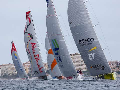 Volvo ocean race fleet in spain