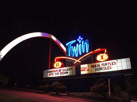 Twin Drive In Night