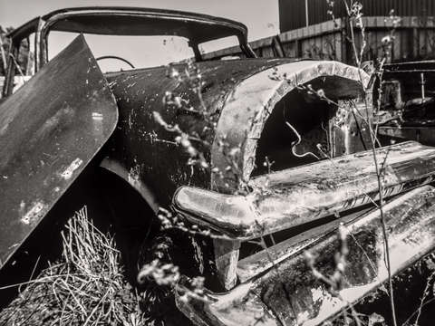 Dead cars series in black and white 101