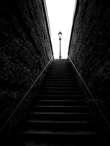 Stairs at Pont Neuf