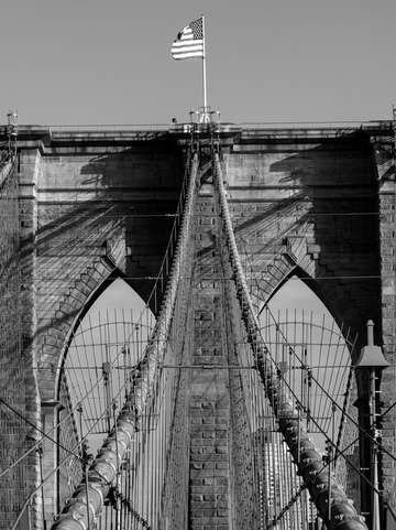 Brooklyn Bridge 03 BW