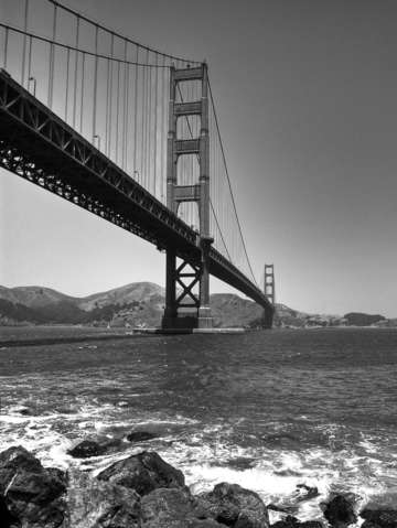 Classic golden gate bridge