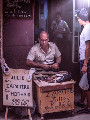 Cuban shoemaker