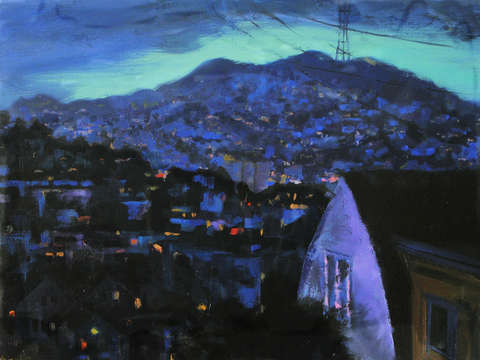 Dusk over bernal heights