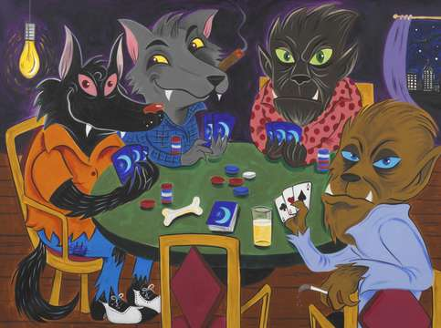 Werewolves playing poker