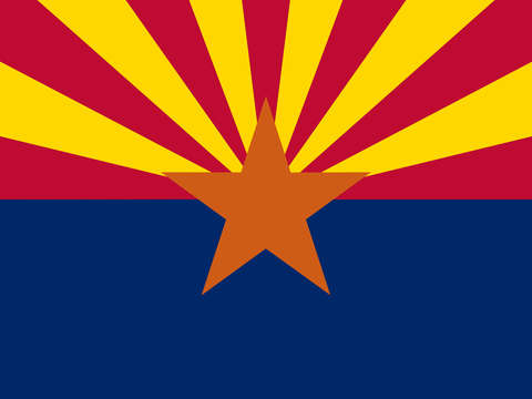 Arizona state flag authentic version