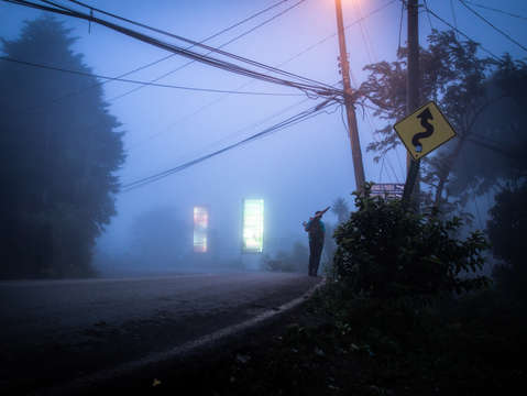 Foggy night in monteverde