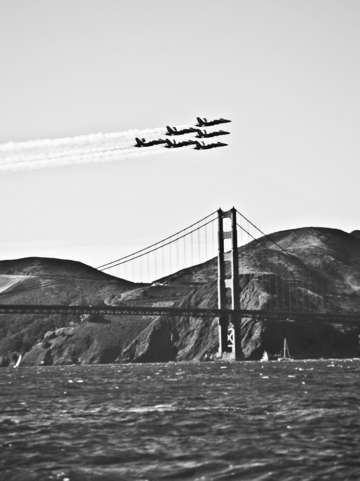Angels over the golden gate bridge