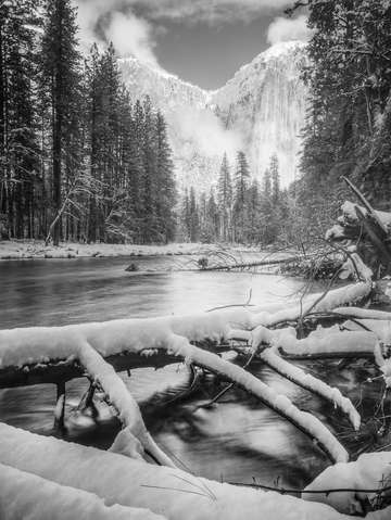 Winter along the merced river