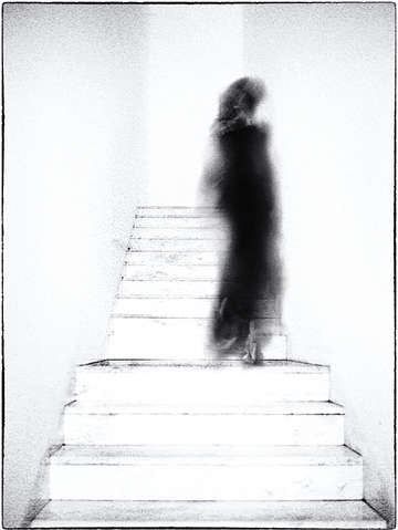 Woman on stairs