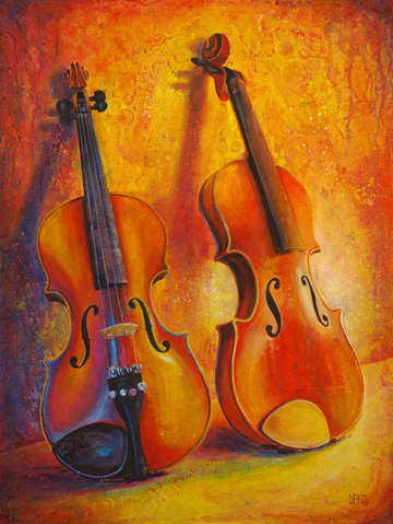 Two violins no strings attached