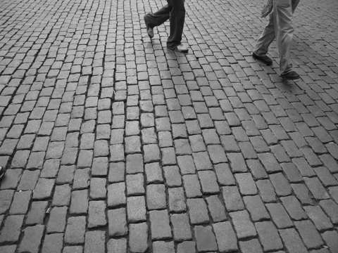 Brick road in brussels