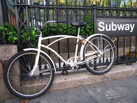 Bicycle at new york city subway