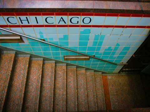 El stairs in chicago