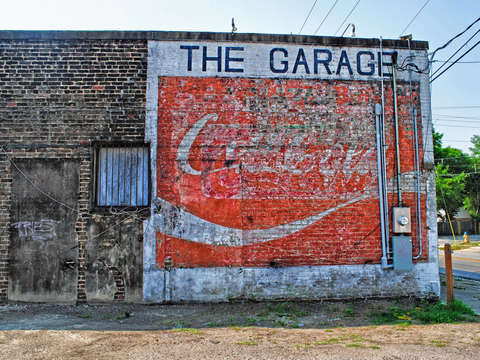 Coca Cola Ghost Sign , Mobile, Alabama