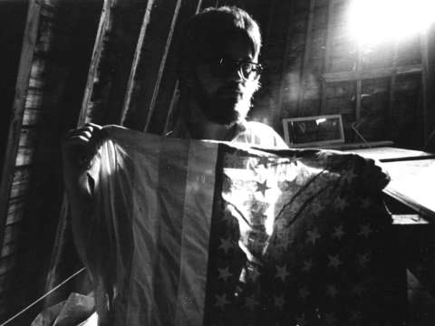 The flag franconia nh 1974