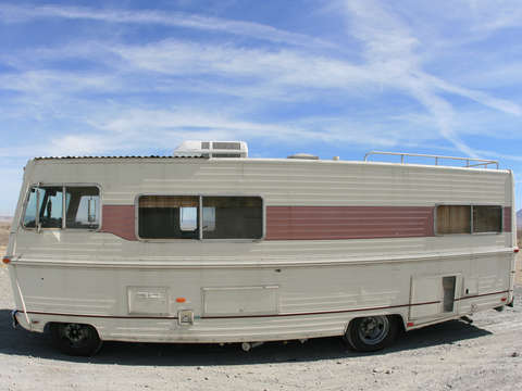 Old motorhome in california