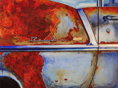 Rusty 55 chevy belair