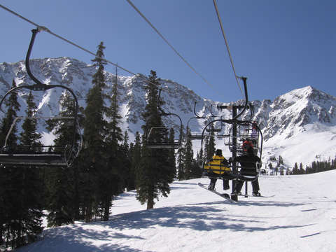 Ski lift at copper mountain