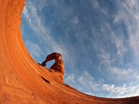 Delicate Arch With A Fisheye