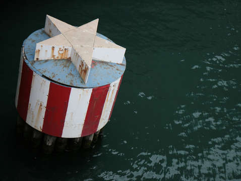 Buoy in the chicago river