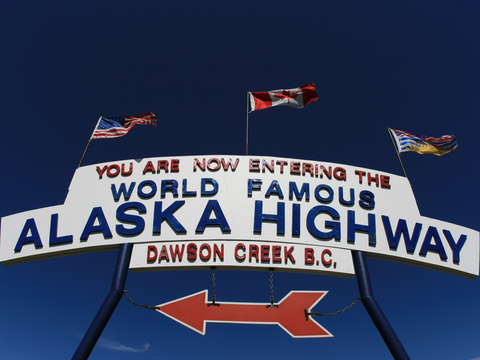 Alaska Highway Entry Sign
