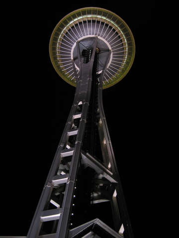 Space Needle At Night